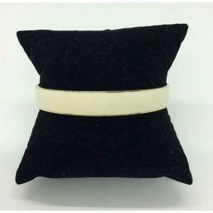 J.Crew Gold Tone Cream Enamel Bangle Bracelet